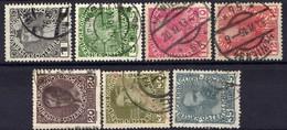 Österreich 1910 Mi 139; 142; 144-146; 148-149 X, Gestempelt [170819XXVII] - Gebraucht
