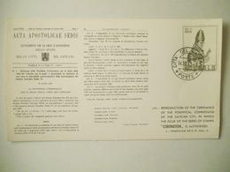 Vaticano Cartoncino Acta Apostolicae Sedis - Errors & Oddities