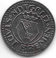 *notgeld  Bremen  10 Pfennig  1920 Fe    2007.1 /F58.1a - [ 2] 1871-1918 : Empire Allemand