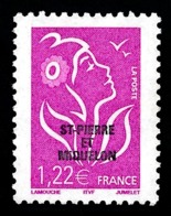 ST-PIERRE ET MIQUELON 2005 - Yv. 849 **   Faciale= 1,22 EUR - Mar. Lamouche 1,22€ Avec Surcharge  ..Réf.SPM11552 - Neufs