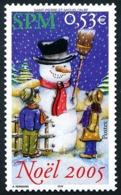 ST-PIERRE ET MIQUELON 2005 - Yv. 859 **   Faciale= 0,53 EUR - Noël. Enfants Et Bonhomme De Neige  ..Réf.SPM11561 - Neufs