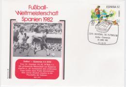 Spain Cover 1982 FIFA World Cup Football In Spain -  Vigo Italy-Cameroon 1:1 (G98-43) - World Cup