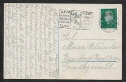 1930 Dt.Reich Postkarte Leipzig 1.8.1930 - IPA Internat. Pelzfach Ausstellung. Leipzig - Messestadt - Pelz Fuchs Fur Fox - Briefe U. Dokumente