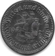 *notgeld  Bremen  50 Pfennig  1921 Zn     2008.7 /F58.4 - [ 2] 1871-1918 : Empire Allemand