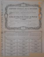 ACTION COMPTOIRS GENERAUX DE LA BOUCHERIE - 12 Avril 187? - 1ère Série - Agricoltura