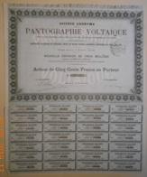 ACTION Sté De PANTOGRAPHIE VOLTAÏQUE - 01 Avril 1879 - RARE - Industry