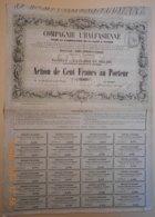 ACTION De La COMPAGNIE L'HALFASIENNE - MARIUS ARTHAUD Et Cie - 1853 - TRES RARE - Industry