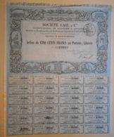 ACTION De La Sté CAIL & Cie - Etablissement DEROSNE ET CAIL - 1870 - Industry