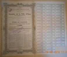 TITRE AU PORTEUR - ANNUITES De La VILLE D'ORAN Pour Le Service Des Eaux - 14 Juillet 1878 - ALGERIE - - Afrika