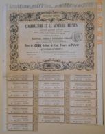 TITRE De 5 ACTIONS L'AGRICULTURE Et La GENERALE REUNIES - Vers 1850 - - Bank & Insurance