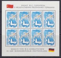"""Russia 1989 Europa Our Common Home 1v In Sheetlet """"Besuch M.S. Gorbatschew In Deutschland ** Mnh (44238) - Europese Gedachte"""