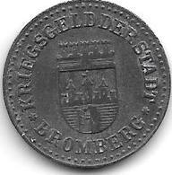 *notgeld   Bromberg  10 Pfennig  1919 Zn 19 Mm     2110.1 / F60.1a - [ 2] 1871-1918: Deutsches Kaiserreich
