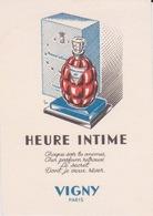 PARFUM -CARTE PARFUMEE - HEURE INTIME DE VIGNY PARIS - PERFUME VINTAGE CARD - Cartes Parfumées