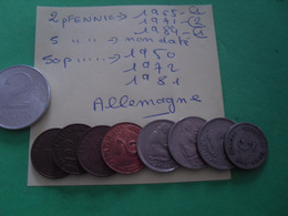 9 Pièces Divers Allemagne - Münzen & Banknoten