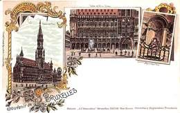 Souvenir De Bruxelles - Litho Colorisée A L'Innovation Rosenblatt - Bruxelles-ville