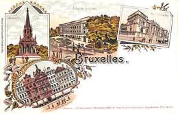 Bruxelles - Multi Vues Litho Colorisée A L'Innovation Rosenblatt - Bruxelles-ville