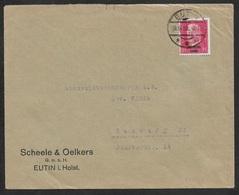 1930 - Dt.Reich - 15Pf (Mi.445) FDC  - ERSTTAG 30.6.1930 BEDARFSBRIEF EUTIN N.HAMBURG - Ende Besetzung Rhein Ruhrgebiets - Briefe U. Dokumente