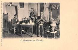 Le Benédicité En Flandre (animée, Poêle, Intérieur D'époque, Cliché Stekke-Houdeng Nels) - Christianisme