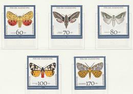 PIA  -  GERMANIA  -  1992  : Pro Gioventù - Farfalle  -  (Yv  1430-34) - Farfalle
