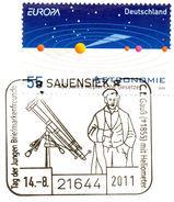 GAUSS, C.F. - KEPLER, J. - Astronomy - Cover - Special Astromatical Mark 2011 - Astronomy - Astronomer - Wissenschaften