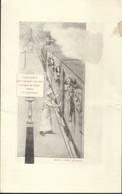 Menu 1889 Paris Congrès Des Chemins De Fer Illustré Train - Menus