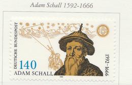 PIA -GER-  1992  : 4° Centenario Della Nascita Dell' Astronomo E Missionario Adam Schall  -  (Yv 1435) - Astronomia