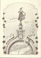 Menu 1900 Paris Congrès Des Chemins De Fer Illustré Train Par A. Linen - Menu