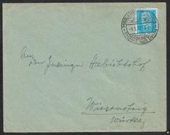 1932 - Dt.Reich 1.1.32 - EF Sonderstempel MARIENBURG KRAFTPOST NACH DANZIG - VISUMFREI A. 4 Pf (Mi.454) - Briefe U. Dokumente