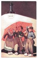 Publicité Philips 1/2 Watt Hollandais Sous Parapluie Non Circulée - Publicité