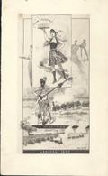 Menu 1895 Londres  Congrès Des Chemins De Fer Illustré Train Par A. Linen - Menus