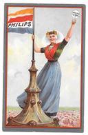 Publicité Philips 1/2 Watt Hollandaise Avec Drapeau Et Lampe Non Circulée - Publicité