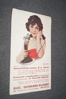Ancien Buvard,assureur Alex Dufrenne - Allaert à Bressoux, Collection,20 Cm. Sur 12 Cm. - Carte Assorbenti