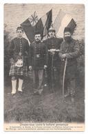 Unissez Vous Contre La Barbarie Germanique Drapeaux Soldats Alliés Angleterre Russie France Belgique Non Circulée - Patriottisch