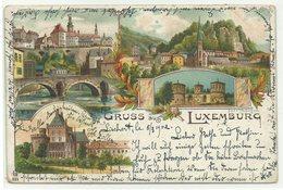 Luxembourg 4 Bilder Litho 1902 Stempel ARLON - Luxemburg - Stadt