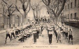 83 LA SEYNE SUR MER INSTITUTION SAINTE MARIE GYMNASTIQUE BELLE ANIMATION CLICHE RARE - La Seyne-sur-Mer