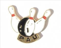 Pin's Bowling De PAU (64) - Boule Et Quilles De Bowling - Logo Motiv- I488 - Bowling