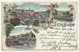 Luxembourg 3 Bilder Litho 1898 - Luxemburg - Stadt