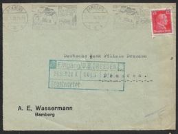 1928 - EF Fernbrief 15Pfg (Mi.391) SonderStpl.25.9.28 BAMBERG - IM POSTAUTO DURCH DIE FRÄNKISCH SCHWEIZ - Portogerecht - Briefe U. Dokumente