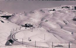 Bretaye VD Sous La Neige, Chemin De Fer Et Skieurs, Tampon Hôtel Terminus Mme De Gottrau (4620) - VD Vaud