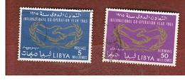 LIBIA  (LIBYA) -   SG 331.333   -  1965  INT. CO-OPERATION YEAR   -  USED° - Libia