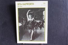 Sp-Actrice/ 1946 - Rita Hayworth - Américaine, Née En 1918 à New York Et Morte En 1987 Dans La Même Ville - Acteurs
