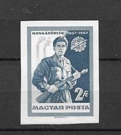 1967 MNH  Hungary Michel 2314B Imperforate  Postfris** - Nuevos