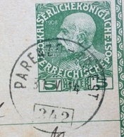 AMBULANTE PARENZO - TRIEST 242  Del 31 V 14  SU CARTOLINA 5 H. DA SCOFFIE PER  KAMNIK - 8. WW I Occupation