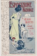 Esposizione Nazionale Cani E Gatti A Milano Nel 1900,  Illustrata Da Guerinoni  - F.p. - Anno 1900 - Manifestations