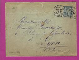 FRANCE Lettre Type SAGE Entiers De LISIEUX 1894 - Marcophilie (Lettres)
