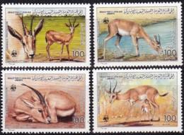 1987, Lybien, 1753/56,  WWF. Weltweiter Naturschutz: Gazelle,  Global Nature Conservation: Gazelle, MNH ** - Libyen