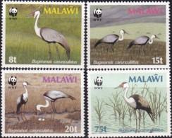1986, Malawi, 477/80,  WWF. Weltweiter Naturschutz: Kranich,  Worldwide Nature Conservation: Crane, MNH ** - Malawi (1964-...)