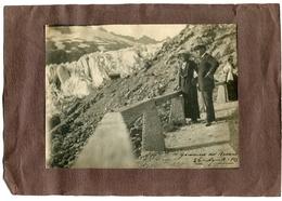 FOTOGRAFIA ORIGINALE GHIACCIAIO DEL RODANO CANTON VALLESE SVIZZERA 26 AGOSTO ANNO 1913 - Luoghi