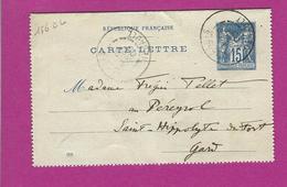 FRANCE Lettre Type SAGE Entiers De GANGES HERAULT 1900 Voir GARD - 1877-1920: Période Semi Moderne