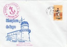 Fosit TOULON - Sémaphore De SAGRO - Cachet Sisco Haute Corse 27/1/2005 - Marcophilie (Lettres)